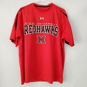 Under Armour Miami University Red Hawks shirt L